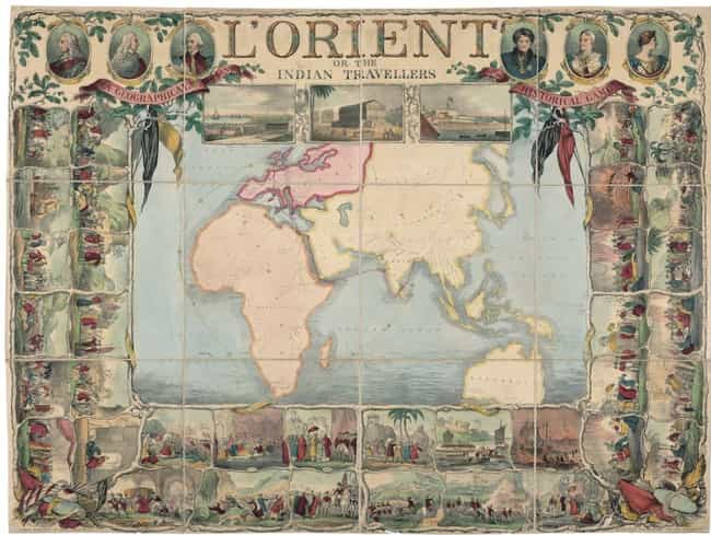 L'Orient, Or, The Indian Trave... is listed (or ranked) 4 on the list Old Board Games Were Intricate Works Of Art