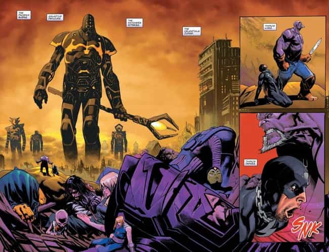 Thanos Uses Blackbolt's ... is listed (or ranked) 4 on the list There's Already A Future Of The Marvel Universe Where Thanos Has Won (And It Is Awesome!)