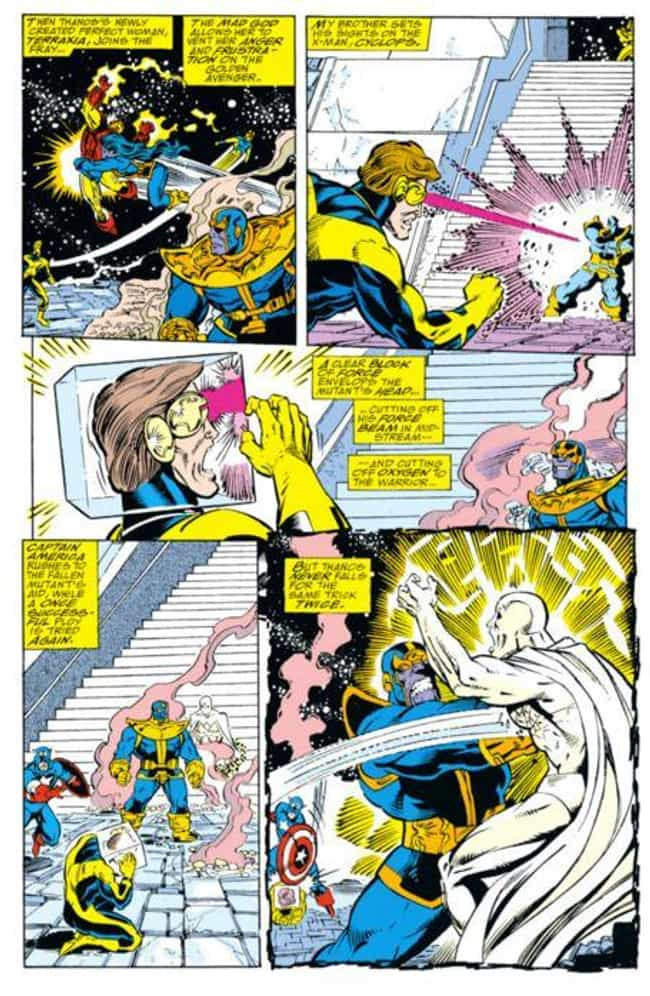 Thanos Puts Cyclops In A... is listed (or ranked) 6 on the list The Most Disturbing Thanos Moments In Marvel Comics