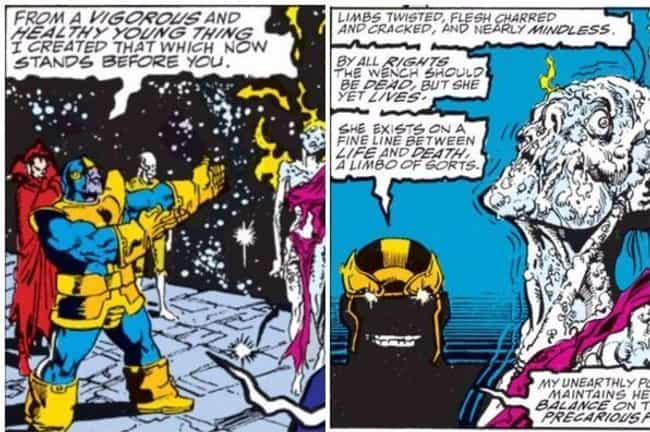 Thanos Turns Nebula Into A 'Living Sculpture'