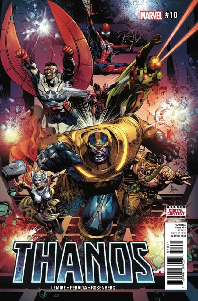 Thanos Smashes Sam Wilso... is listed (or ranked) 2 on the list The Most Disturbing Thanos Moments In Marvel Comics