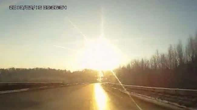 The Light From The Meteor Caus... is listed (or ranked) 4 on the list In 2013, A Meteorite Narrowly Missed The Earth And Injured 1,200 People In Russia