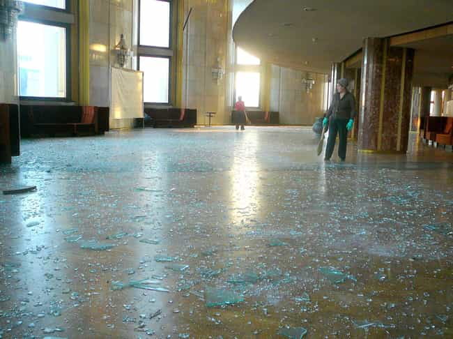 The Sonic Wave Shattered Glass... is listed (or ranked) 5 on the list In 2013, A Meteorite Narrowly Missed The Earth And Injured 1,200 People In Russia