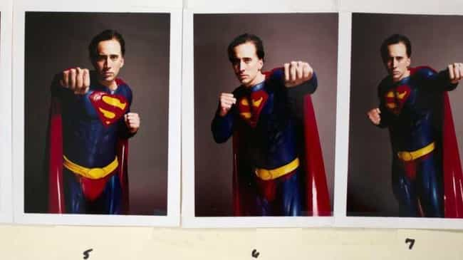 The Costume Was Actually Prett... is listed (or ranked) 4 on the list That Time Nicolas Cage Was Three Weeks Away From Playing Superman