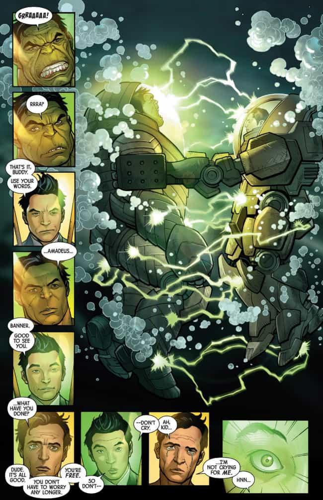 Bruce Banner Finally Escapes T... is listed (or ranked) 1 on the list Wait, So The Hulk Was Killed By Hawkeye And Resurrected As An Immortal Night-Creature?