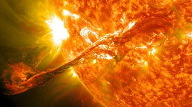 Solar Flares Could Cause Geoma... is listed (or ranked) 3 on the list Space Could Murder You At Any Moment, And You Don't Even Have To Leave Earth
