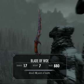 Blade Of Woe is listed (or ranked) 11 on the list The Rarest, Strongest Weapons In Skyrim, Ranked