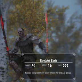 Bloodskal Blade is listed (or ranked) 2 on the list The Rarest, Strongest Weapons In Skyrim, Ranked