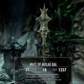 Mace Of Molag Bal is listed (or ranked) 8 on the list The Rarest, Strongest Weapons In Skyrim, Ranked