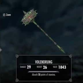 Volendrung is listed (or ranked) 15 on the list The Rarest, Strongest Weapons In Skyrim, Ranked