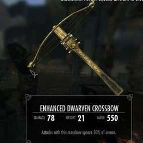 Enhanced Dwarven Crossbow is listed (or ranked) 14 on the list The Rarest, Strongest Weapons In Skyrim, Ranked