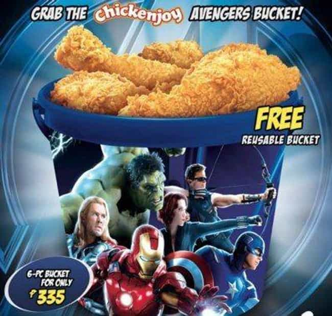 Reusable Avengers Chicken Buck... is listed (or ranked) 1 on the list The Weirdest Marvel Tie-In Products
