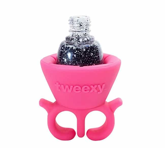 Tweexy Wearable Nail Polish Ho... is listed (or ranked) 2 on the list These Weird Beauty Items Might Look Strange On Your Vanity, But They'll Step Up Your Makeup Game