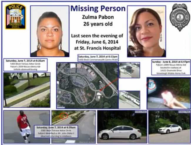 Pabon Disappeared On Her Last ... is listed (or ranked) 4 on the list Zulma Pabon's Boyfriend Maintained His Innocence, Until Police Saw His Internet Search History