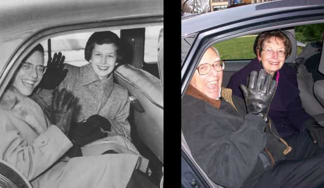 In 60 Years The Car Changed Bu... is listed (or ranked) 4 on the list Old Couples Recreate Their Old Photos
