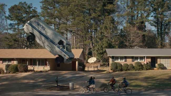 That Van Flipping Scene ... is listed (or ranked) 2 on the list 16 Behind The Scenes Secrets From The Set Of 'Stranger Things'