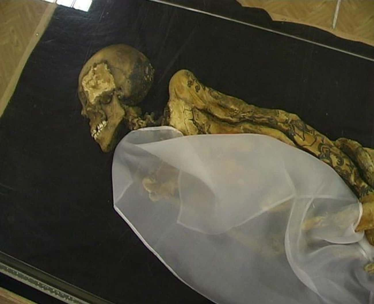 Her Intricate Tattoos Include  is listed (or ranked) 1 on the list This 2,500-Year-Old Mummy Was Found Covered In Mysterious Tattoos And Holding A Satchel Of Weed