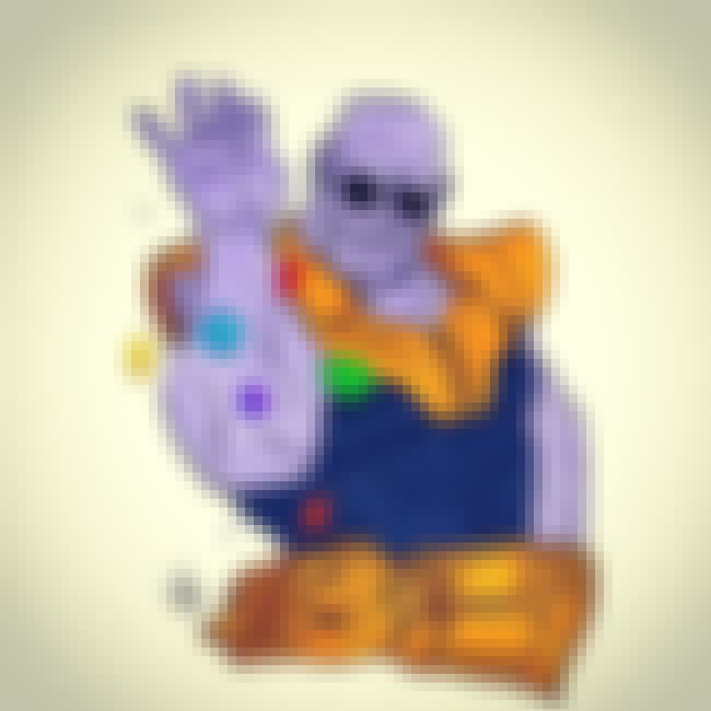 Infinity Salt is listed (or ranked) 1 on the list Fan Art Of Thanos Just Chillin'