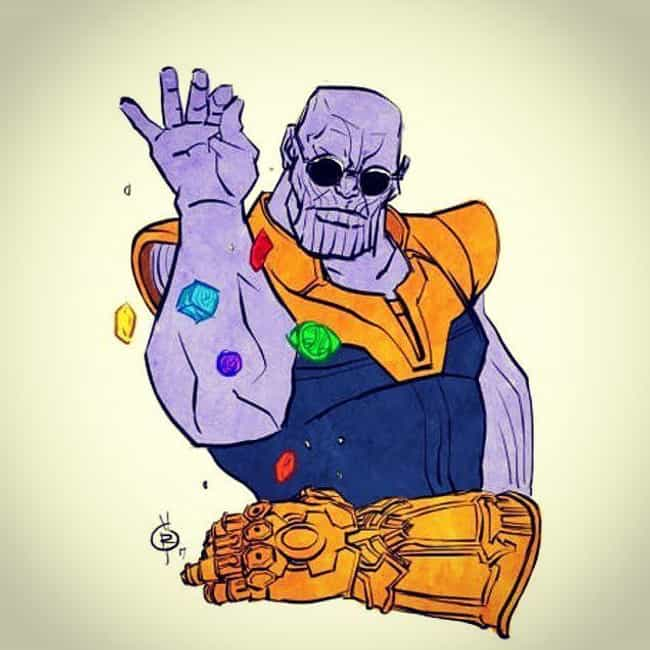 amazing thanos fan art that showcases his chill side