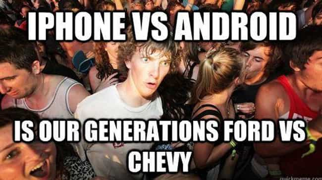 Attack Of The Phones is listed (or ranked) 2 on the list Android Vs. iPhone Memes That Will Make You Laugh Out Loud Or Get Incredibly Angry