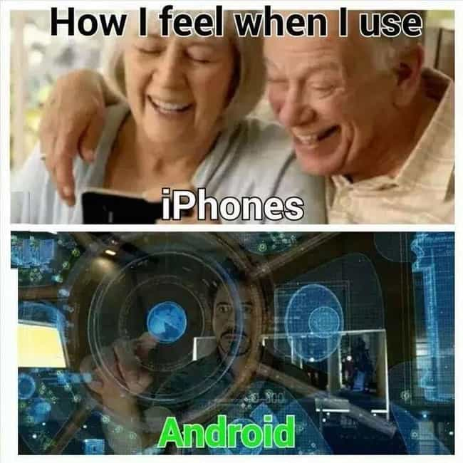 Age Accessible is listed (or ranked) 3 on the list Android Vs. iPhone Memes That Will Make You Laugh Out Loud Or Get Incredibly Angry