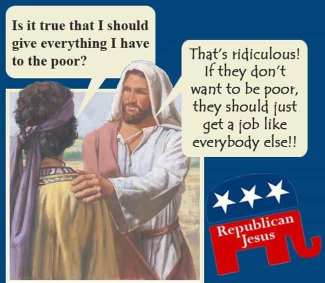 Republican Jesus Doesn't... is listed (or ranked) 4 on the list The 12 Greatest Jesus Memes of All Time