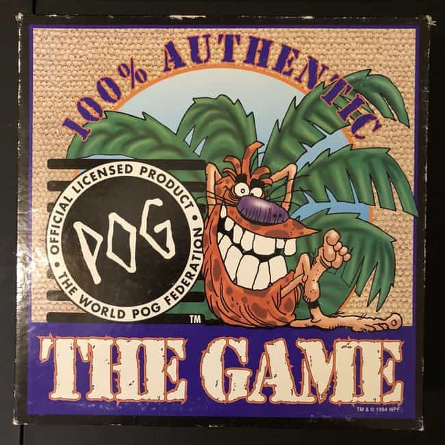 Pog The Official Game, C... is listed (or ranked) 5 on the list Pogs, The Weird Discs From The '90s, Have A Super Legitimate Collector's Market Now
