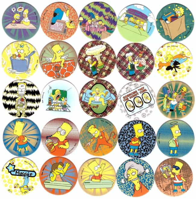 The Simpsons Magic Box C... is listed (or ranked) 7 on the list Pogs, The Weird Discs From The '90s, Have A Super Legitimate Collector's Market Now