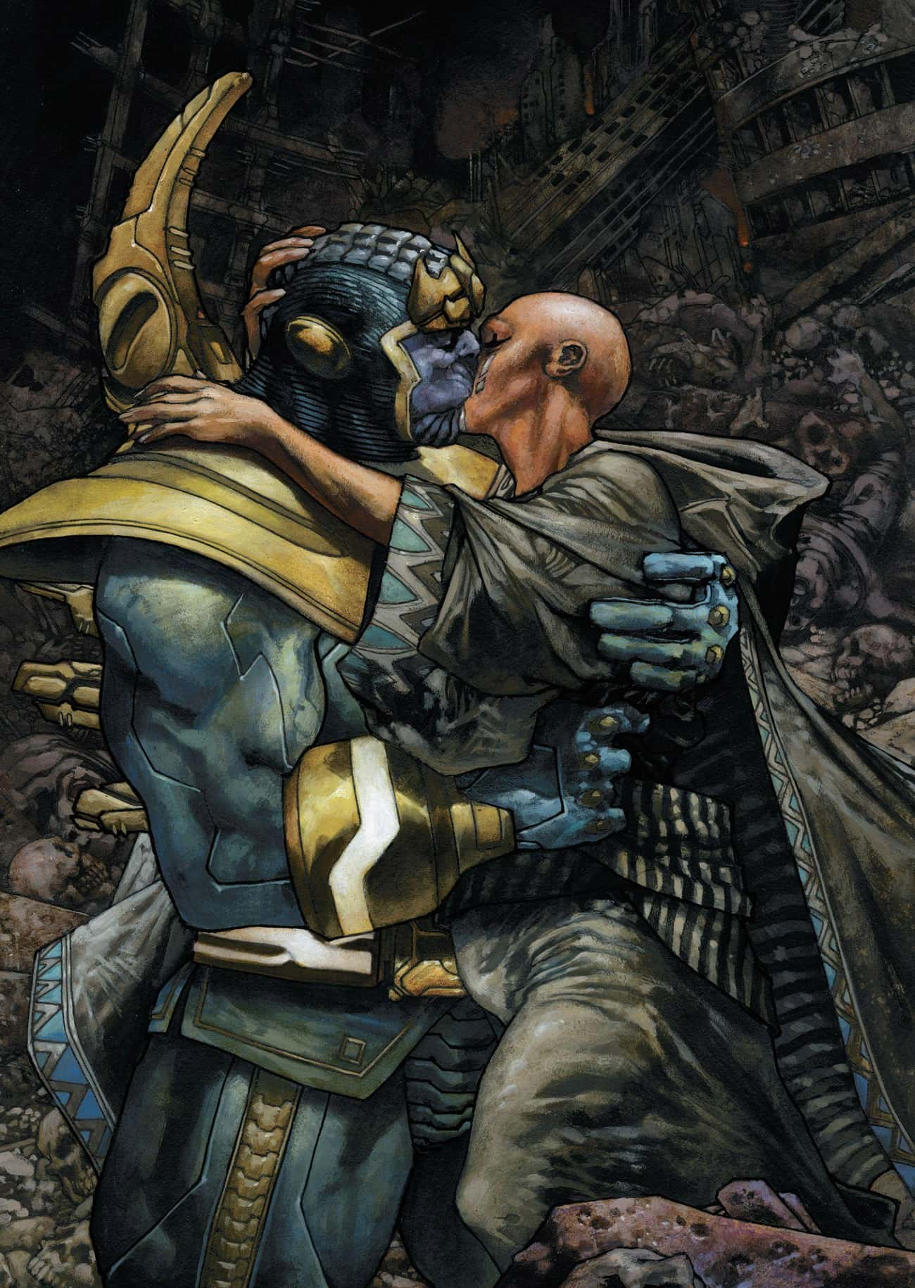 Thanos Is In Love With Death P is listed (or ranked) 1 on the list Thanos's Evil Plan Is Very, Very Different In The Comics
