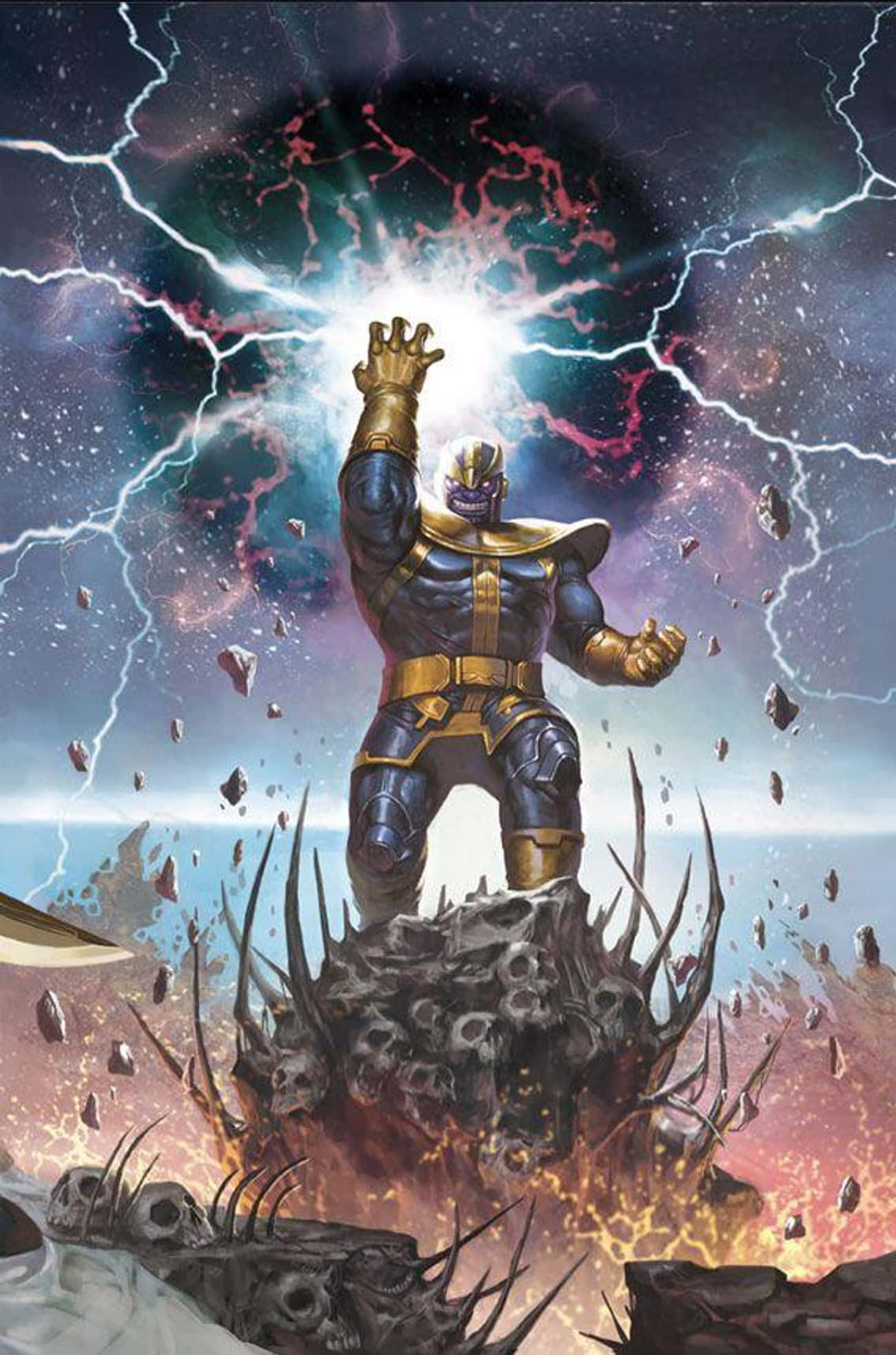 Thanos Continually Seeks Upgra is listed (or ranked) 4 on the list Thanos's Evil Plan Is Very, Very Different In The Comics