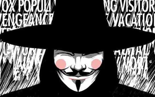 V From 'V For Vendetta' ... is listed (or ranked) 3 on the list Fan Theories About Watchmen That Make The Comic Way Better, Even If You've Read It 100 Times