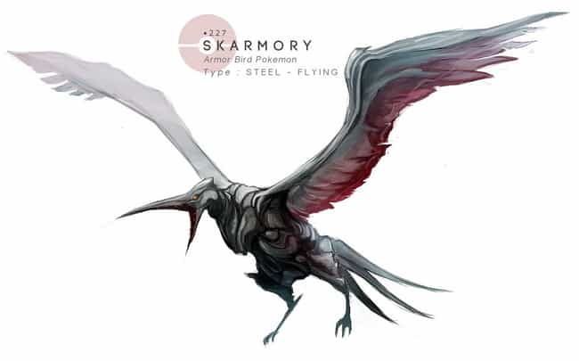 Skarmory is listed (or ranked) 1 on the list This Artist Draws Pokémon In Grotesquely Realistic Style