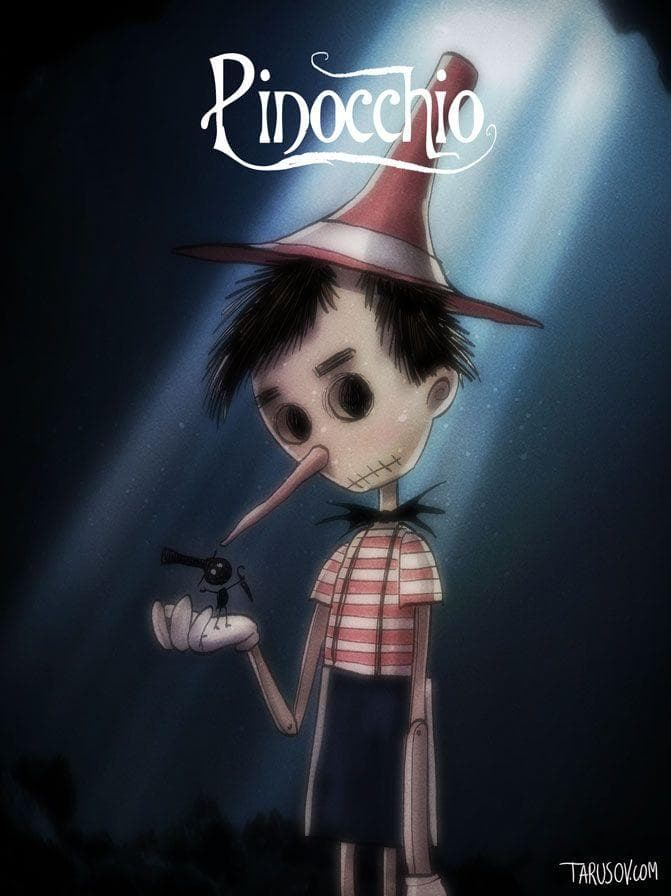 Image of This Artists Random Draw Your Favorite Characters As Tim Burton Characters