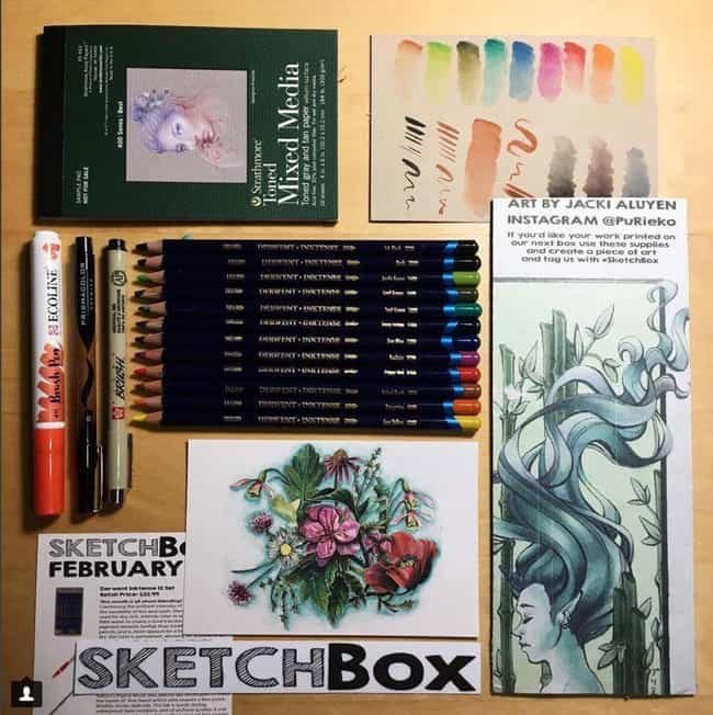 Sketch Box is listed (or ranked) 3 on the list The Best Subscription Boxes for Arts and Crafts