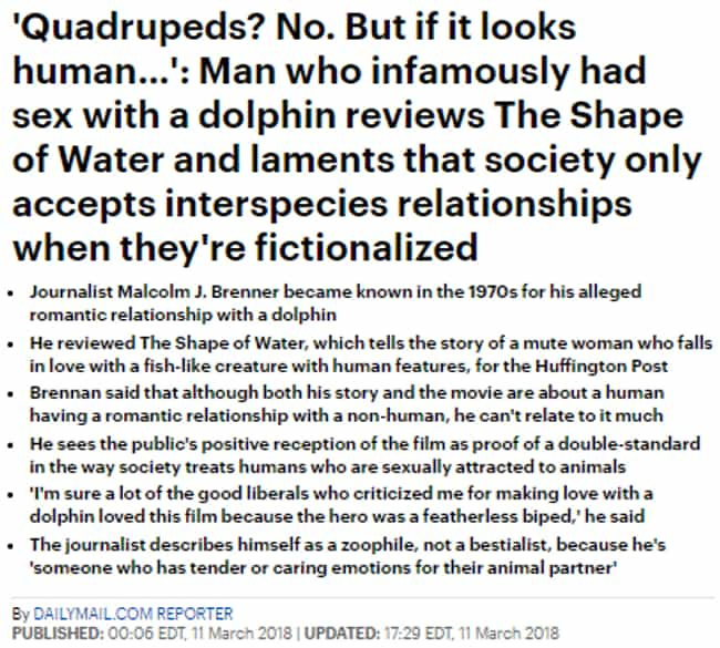 Dolphinately Strange is listed (or ranked) 2 on the list 28 Daily Mail Headlines That Really Go The Extra Mile