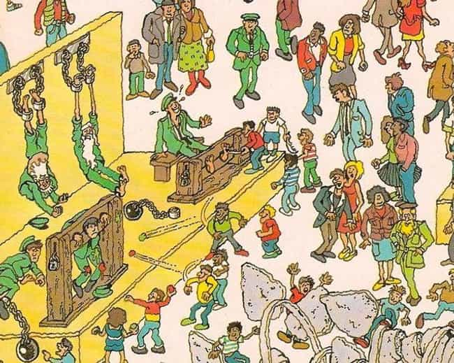 People Getting Tortured ... is listed (or ranked) 4 on the list The Weirdest Things Hidden In Where's Waldo Images