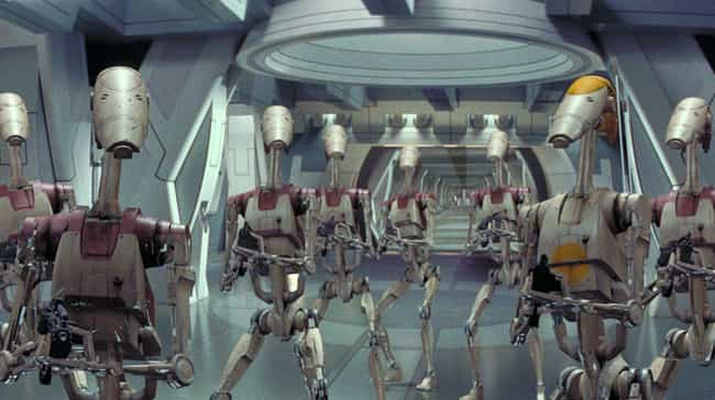 Soldier Droids Were Given The ... is listed (or ranked) 4 on the list The Bizarre (And Often Dark) Implications Of The Star Wars Universe