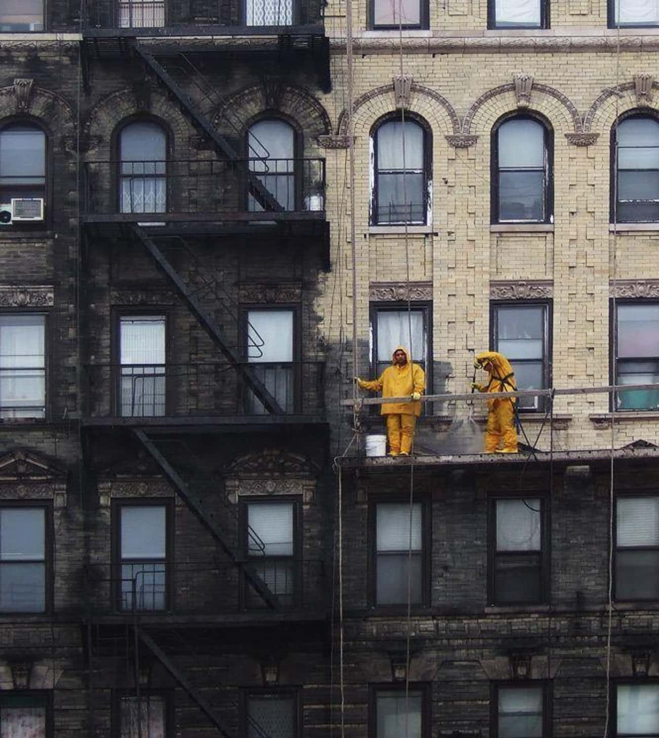 A New York Building After A Pr is listed (or ranked) 1 on the list Jaw-Dropping Pictures Of Things Being Worn Down Over Time