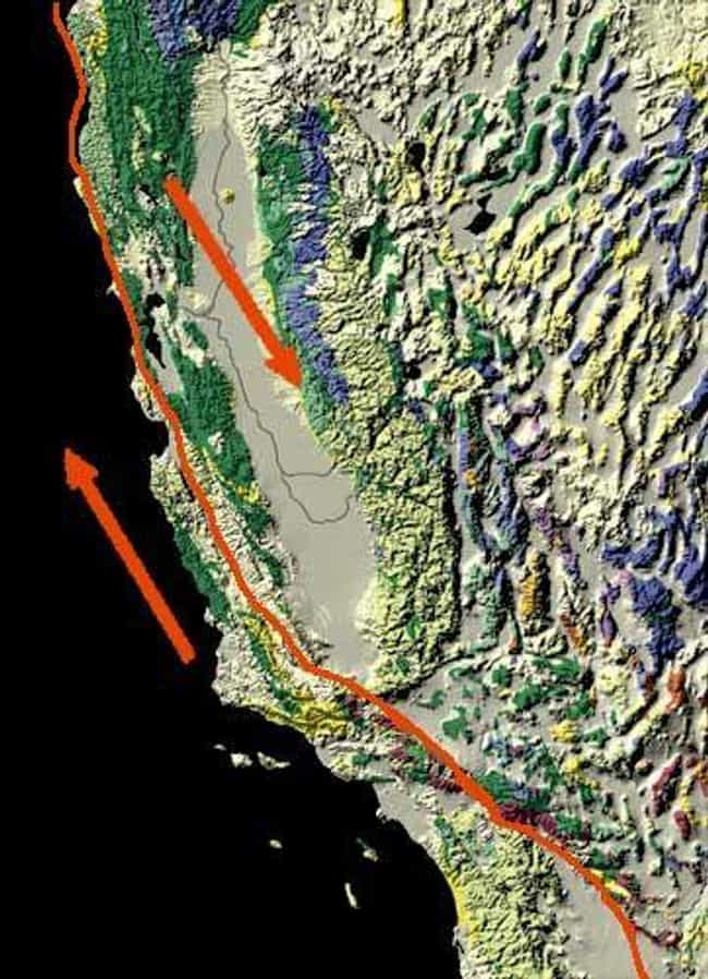 San Andreas Fault Zone -... is listed (or ranked) 4 on the list The Most Dangerous Fault Zones in America