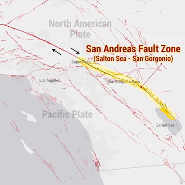 San Andreas Fault Zone - Salto... is listed (or ranked) 4 on the list The Most Dangerous Fault Zones in America