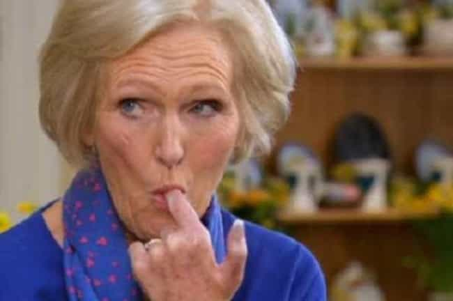 Former Host Mary Berry W... is listed (or ranked) 1 on the list Behind-The-Scenes Stories From 'The Great British Bake Off' To Make You Love It Even More