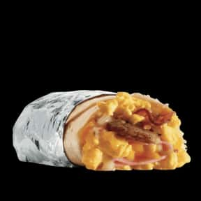 Meat Lovers Breakfast Burrito is listed (or ranked) 12 on the list The Best Things To Eat For Breakfast At Jack in the Box