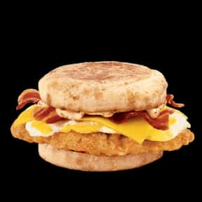 Bacon & Egg Chicken Sandwich is listed (or ranked) 9 on the list The Best Things To Eat For Breakfast At Jack in the Box