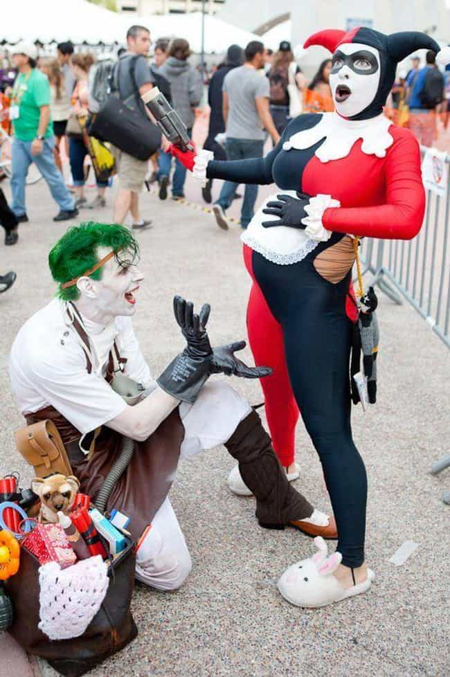 Harley Quinn And Joker ... is listed (or ranked) 1 on the list Pregnant Women Who Still Rock Cosplay