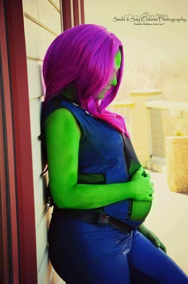 Gamora is listed (or ranked) 3 on the list Pregnant Women Who Still Rock Cosplay