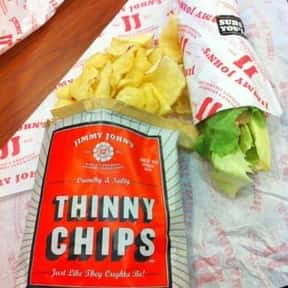 Thinny Jimmy Chips is listed (or ranked) 11 on the list The Best Things To Eat At Jimmy John's