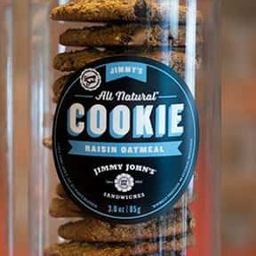 Raisin Oatmeal Cookie is listed (or ranked) 10 on the list The Best Things To Eat At Jimmy John's