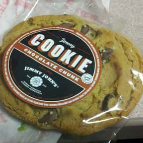 Chocolate Chunk Cookie is listed (or ranked) 4 on the list The Best Things To Eat At Jimmy John's