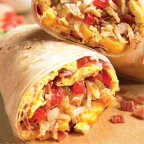 Breakfast Burrito w/Sausage is listed (or ranked) 4 on the list The Best Things To Eat For Breakfast At Farmer Boys