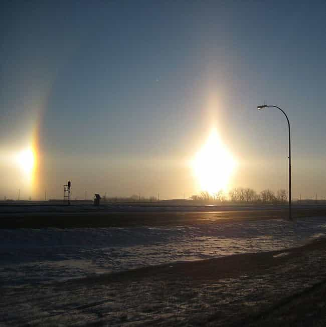 Sun Dog is listed (or ranked) 4 on the list The Most Rare Atmospheric Phenomena on Earth